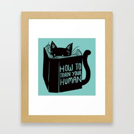 Cat Reader Advice Framed Art Print