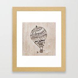 Hot Air Ballon Framed Art Print