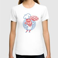 chef T-shirts featuring Pizza Chef by Studio Drawgood
