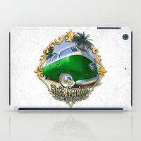 vw bus iPad Cases featuring VW T1 Bus - Just cruisin' by GET-THE-CAR