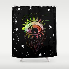Right Eye of Space Kami Shower Curtain