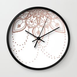 Rose Gold Chain Wall Clock