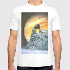 End Of The Sky MEDIUM White Mens Fitted Tee