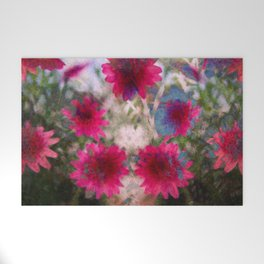 flowers abstract Welcome Mat