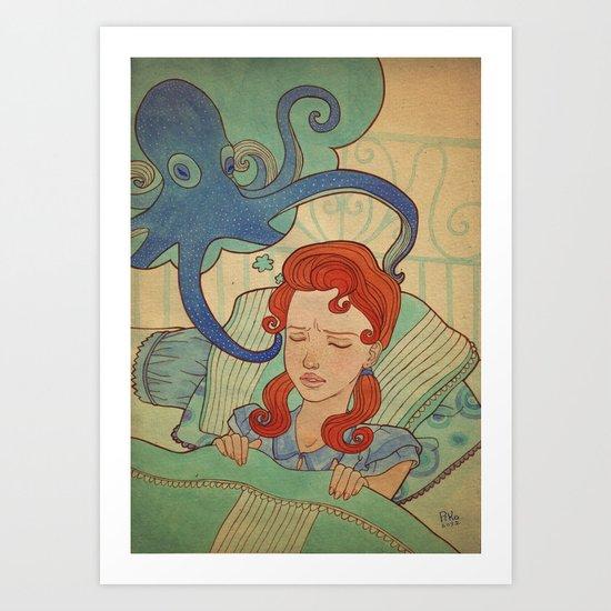 Aquatic nightmare Art Print