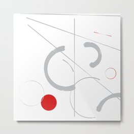 Minimal scandinavian abstract Metal Print