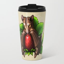 Strawberry Bat Travel Mug