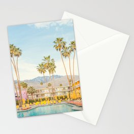 Poolside in Palm Springs - Travel Photography Stationery Cards