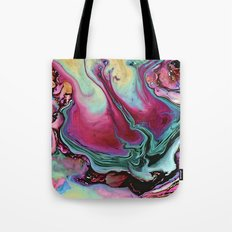 Colorful abstract marbling Tote Bag