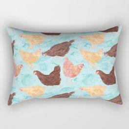 A Gaggle of Hens Rectangular Pillow