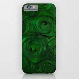 Emerald Green Roses iPhone Case