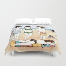 Beach Babes Duvet Cover