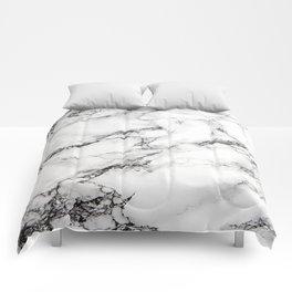 Greyish White Marble Comforters