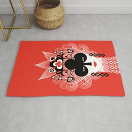 The Queen of clubs Rug