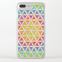 Rainbow flower or life painting Clear iPhone Case