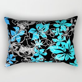Dancing Hibiscus Hawaiian Aloha Shirt Print Rectangular Pillow