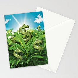 The Land Where Wealthy Grows Stationery Cards