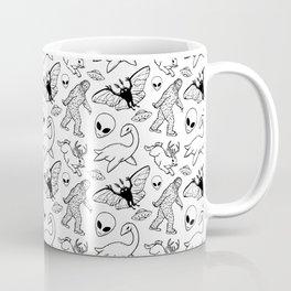 Cryptid Pattern: Ink Lines Coffee Mug