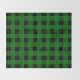 Pine Green Buffalo Check - more colors Throw Blanket