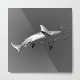 Low-Res Shark Metal Print