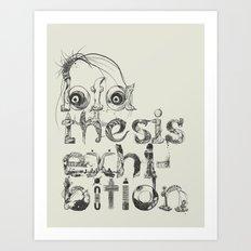 Thesis Promo Poster Art Print