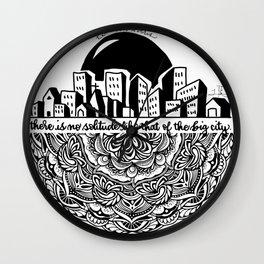 Big City Mandala Wall Clock