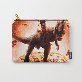 Outer Space Pug Riding Dinosaur Unicorn - Pizza Carry-All Pouch