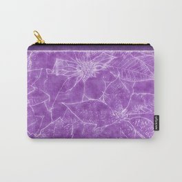 Mixed Color Poinsettias 2 Outlined Purple Carry-All Pouch