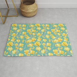 Yellow Magnolia Spring Bloom Rug