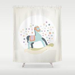 ROCKING HORSE Shower Curtain