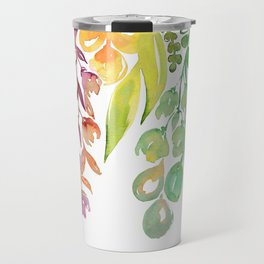 """Colorful ombre watercolor bouquet, """"Lindsay"""" Travel Mug"""