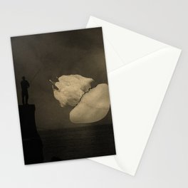 fushing the meduse Stationery Cards