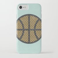 kobe iPhone & iPod Cases featuring Op Art Basketball. by Nick Nelson