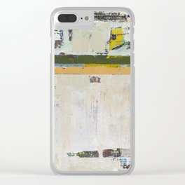 Chariot White Abstract Modern Painting Art Clear iPhone Case