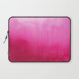Modern fuchsia watercolor paint brushtrokes Laptop Sleeve