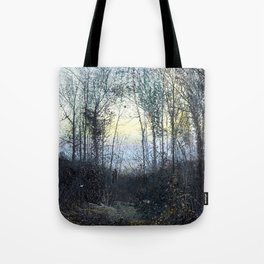 John Atkinson Grimshaw - Lovers in a Woodland Clearing - Victorian Retro Vintage Painting Tote Bag