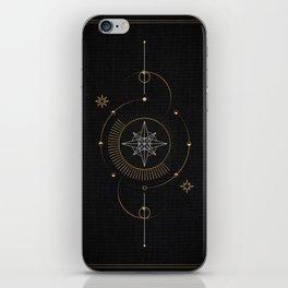 Tarot geometric #3: North star iPhone Skin