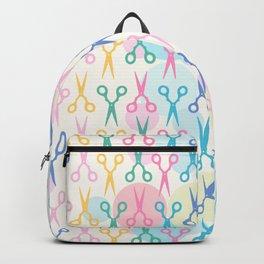 Hair Scissors Pastel Pattern Backpack
