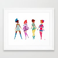 60s Framed Art Prints featuring 60s MOD by Meganfisherdraws