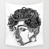 danny haas Wall Tapestries featuring Danny by Alastair Vanes