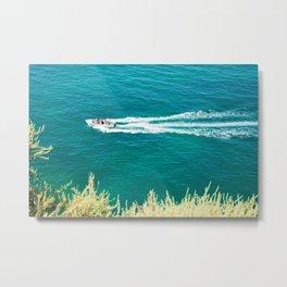 Boat Algarve Metal Print