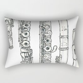 Flöte Rectangular Pillow