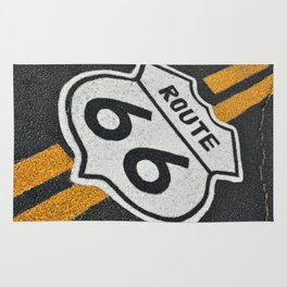 The mythical Route 66 sign. Rug
