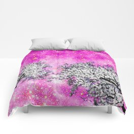 NEBULA  DREAMS TREES  PINK Comforters