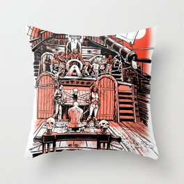 Sea of Red: Judgement Throw Pillow