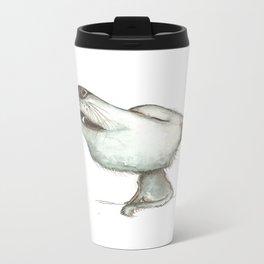 NORDIC ANIMAL - WOLFGANG THE WOLF / ORIGINAL DANISH DESIGN bykazandholly  Travel Mug