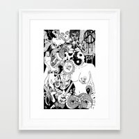 random Framed Art Prints featuring Random by bayes bros