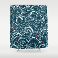 sailing Shower Curtains featuring sailing by Pardabon