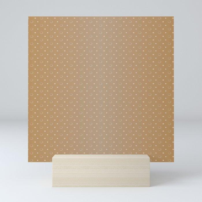 Art Deco Pattern 1 [LIGHT GOLD] Mini Art Print