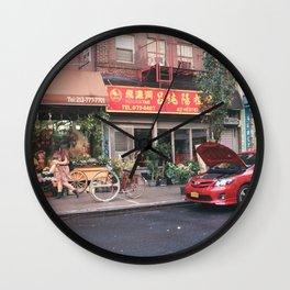 Red Tones Wall Clock